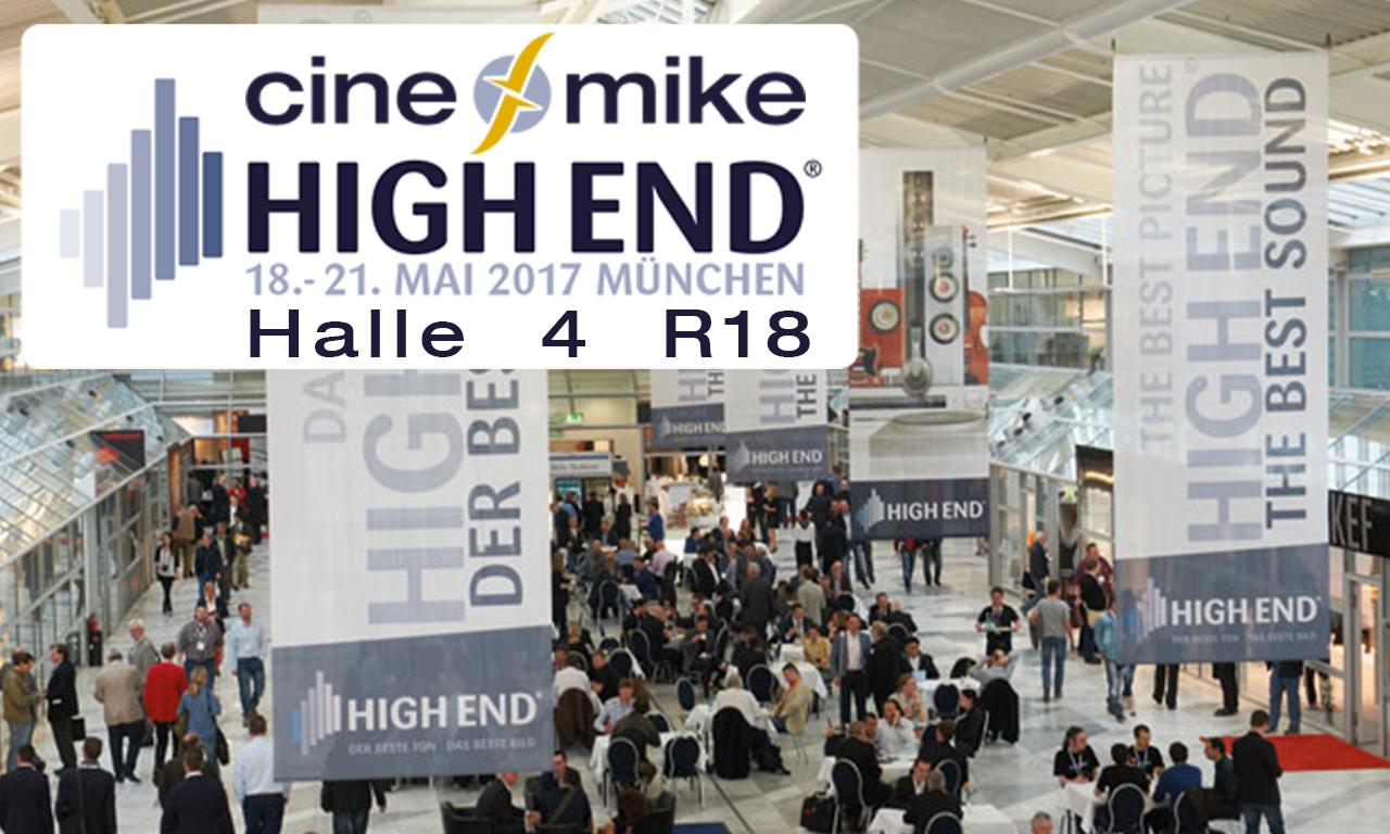 Cinemike @ Highend Show Munich 18.-21. May Hall 4 / R18